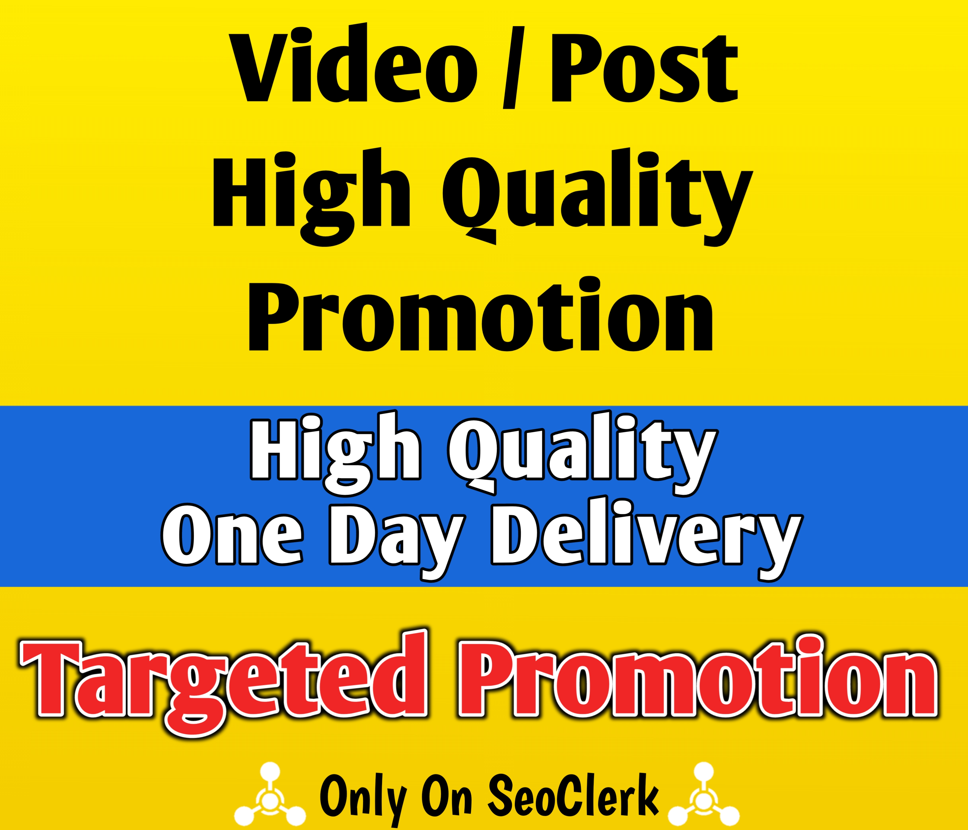 High Quality Social Post Video Promotion Via Real Marketing