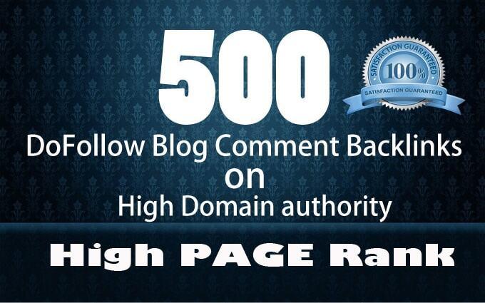 create 500 high da authorithy backlinks manually seo link, building