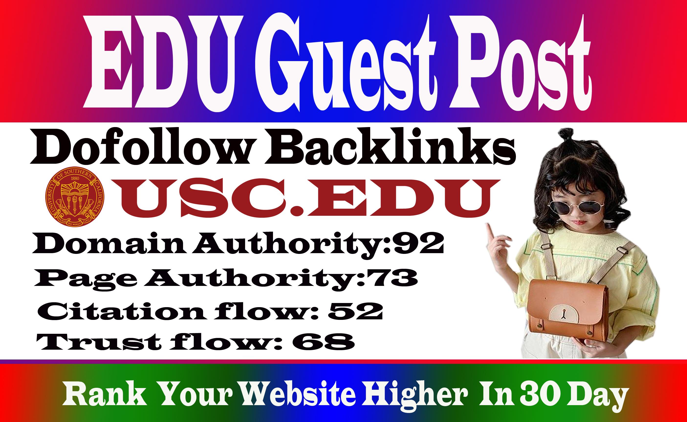 Publish A Guest Post On Usc Edu Blog Da92 Dof0llow Link