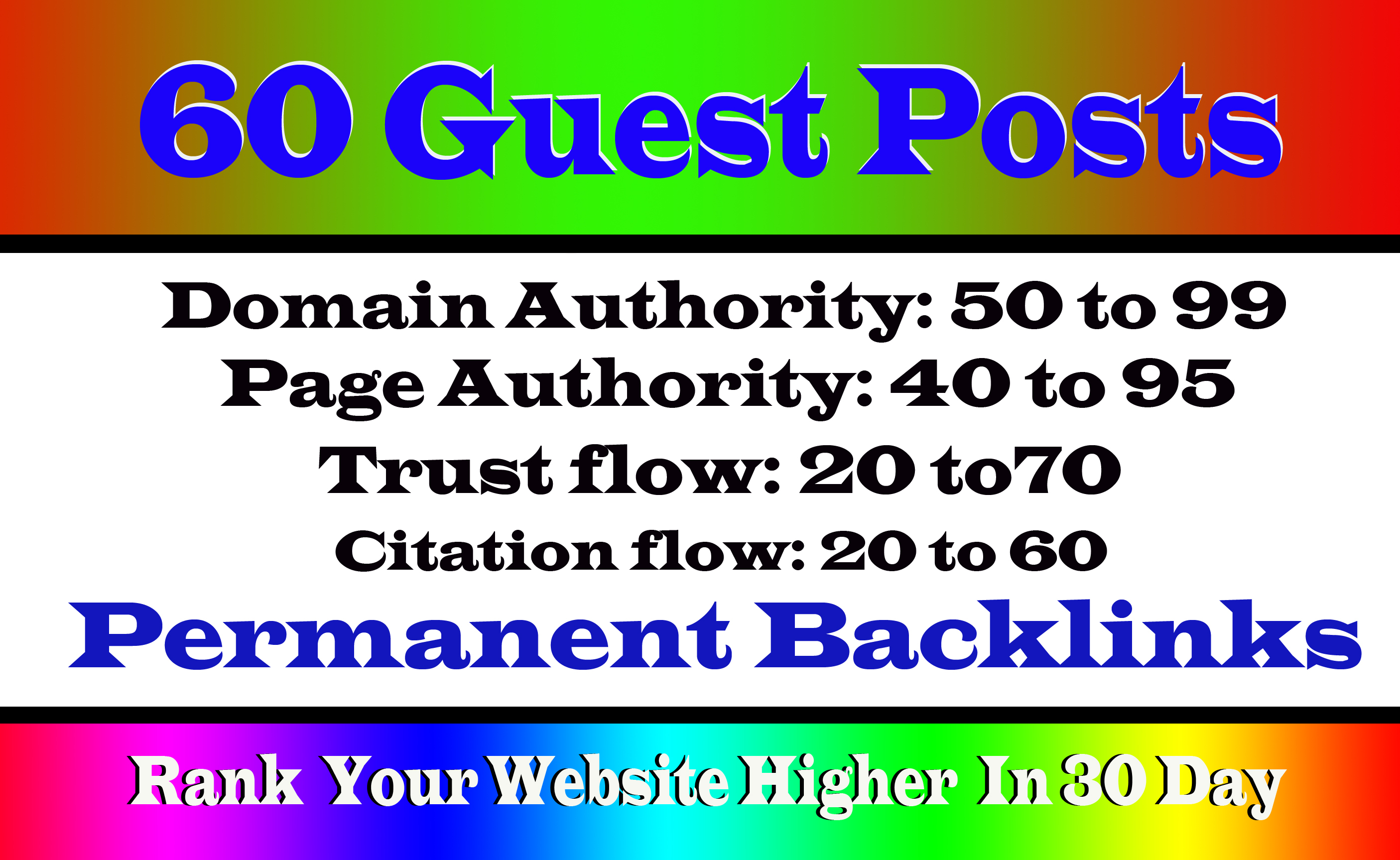 Write And Publish 60+ Guest Post On High DA99-40 Websites