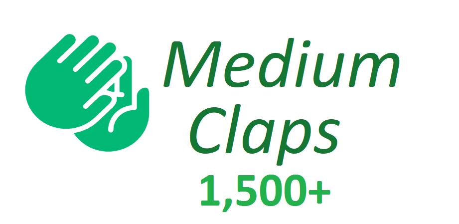 Give You Real 1,500+Medium claps to your Article medium for
