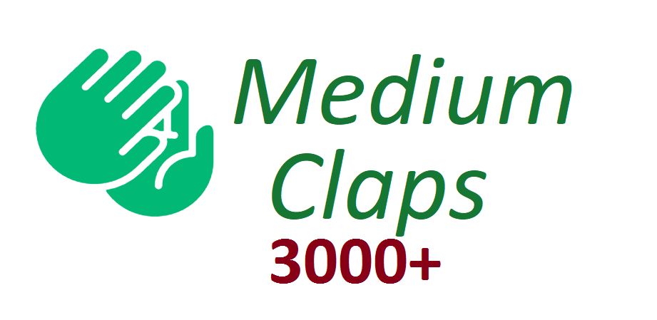 Give You Real 3000+Medium claps to your Article medium for