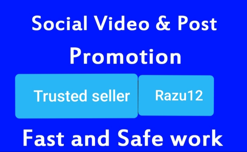 Instant first and safe Social video promotion