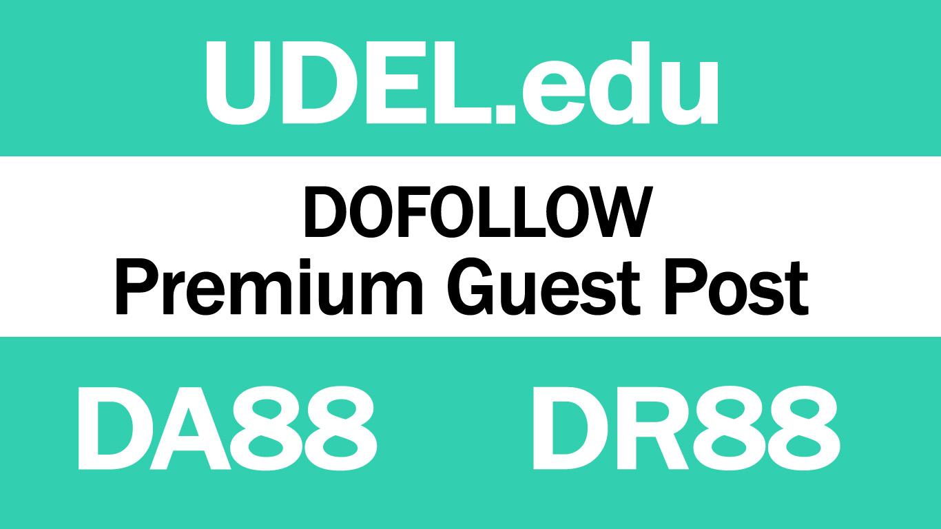 I Will write And Publish Guest Post On UDEL. edu DA88