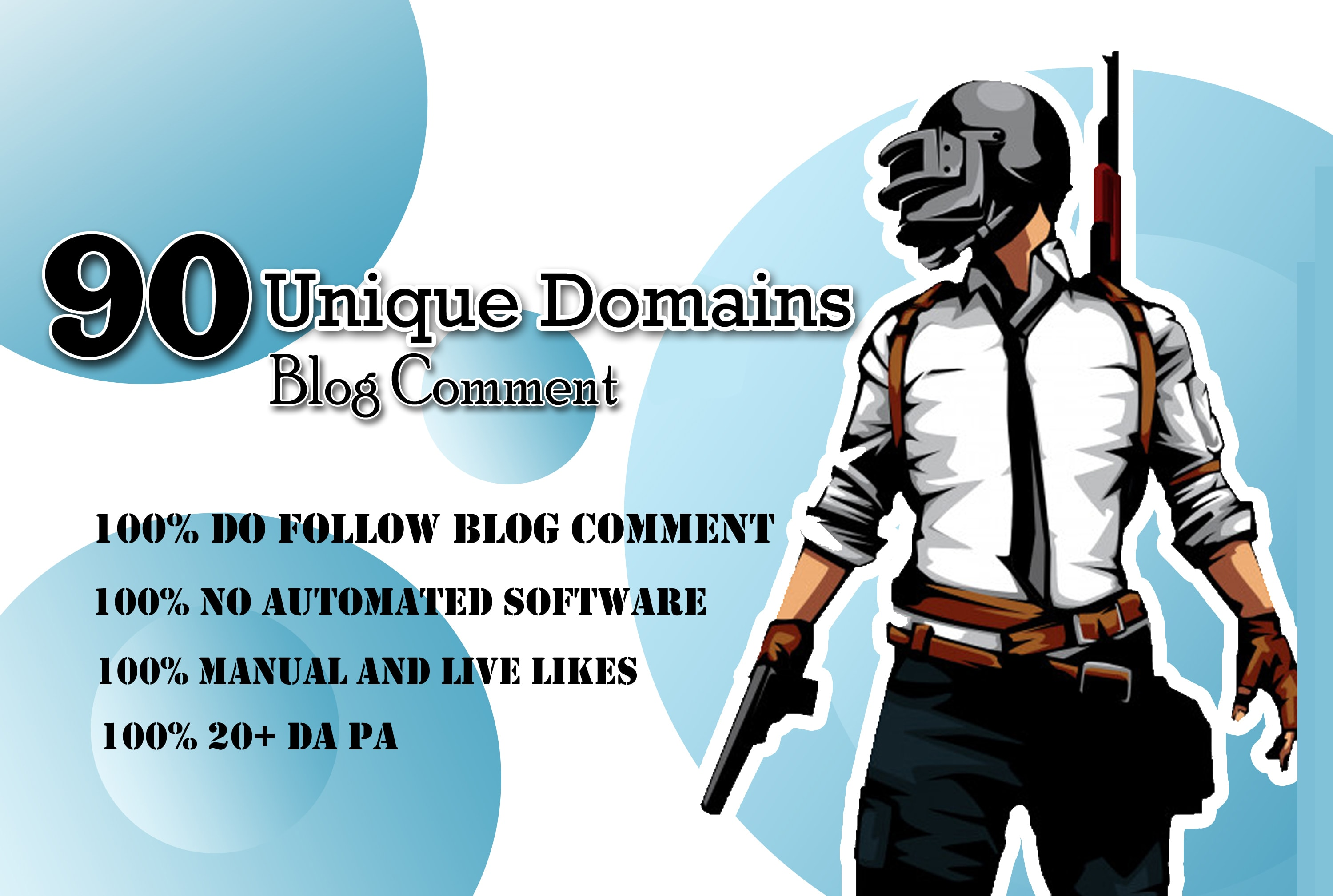 I will 90 unique domains SEO service blog comments backlinks