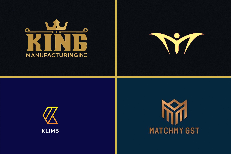 I will do modern minimalist luxury logo design