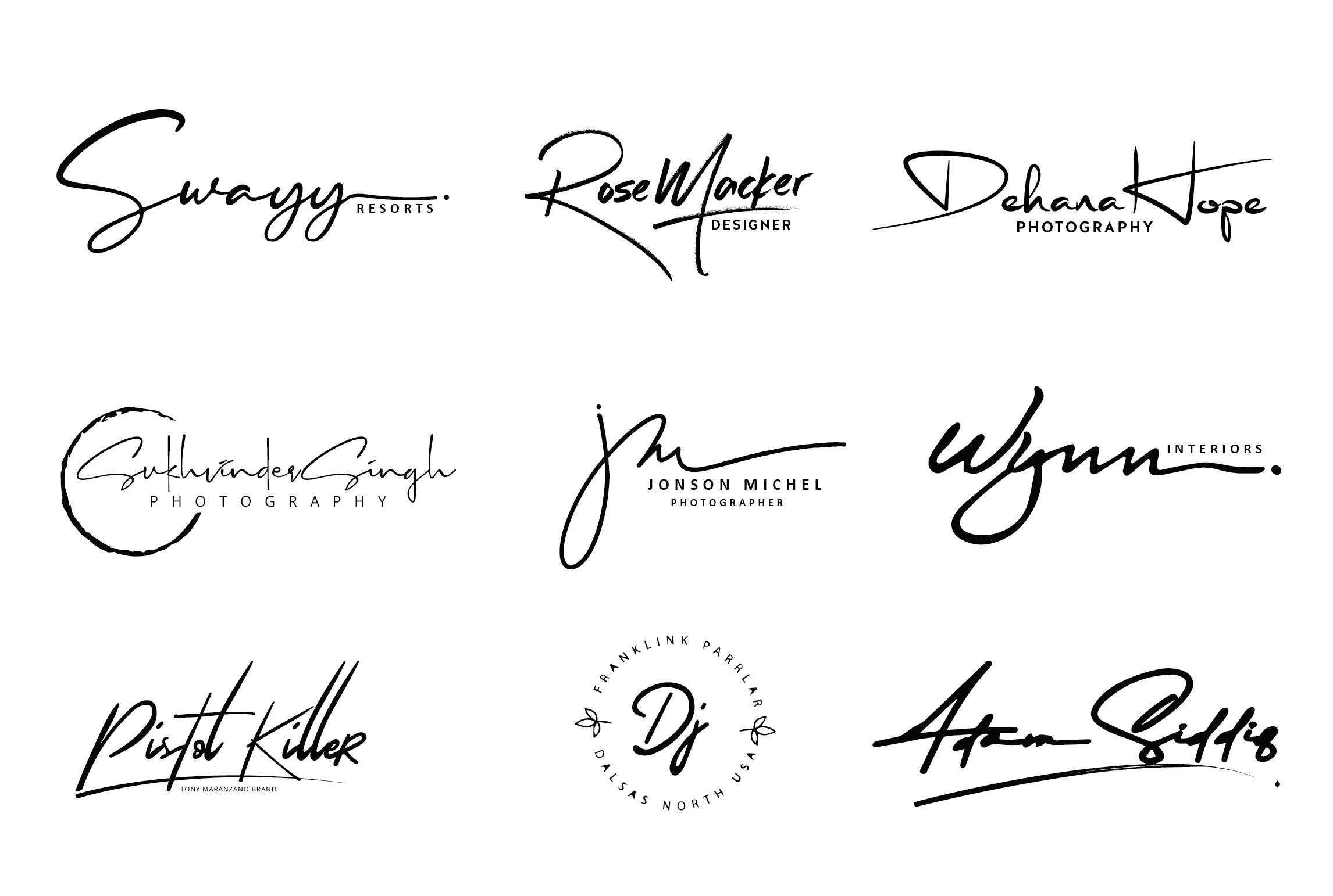 I will design signature handwritten logo