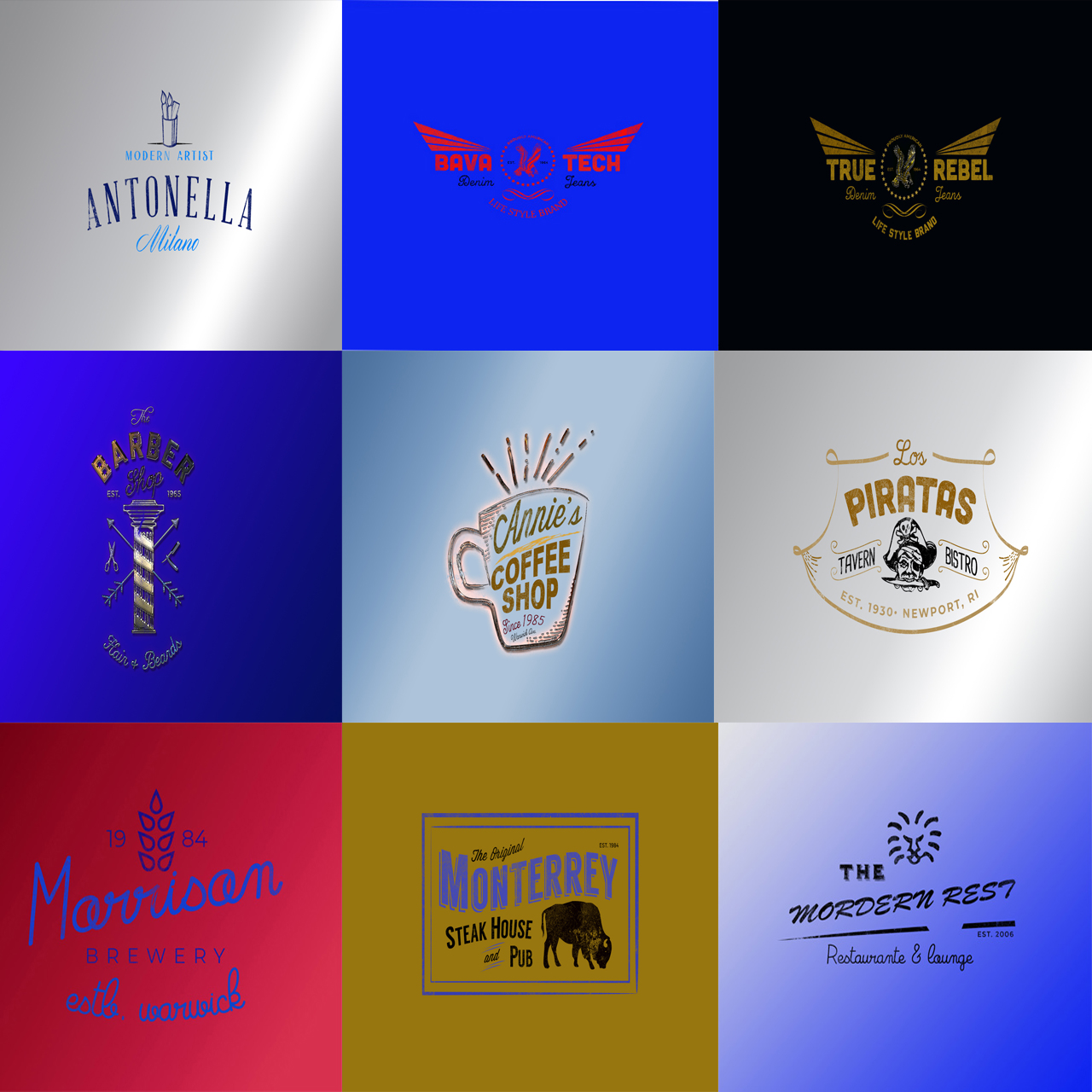 I will design stunning vintage retro logo