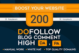 Create 200 dofollow backlink blog comments on high da pa