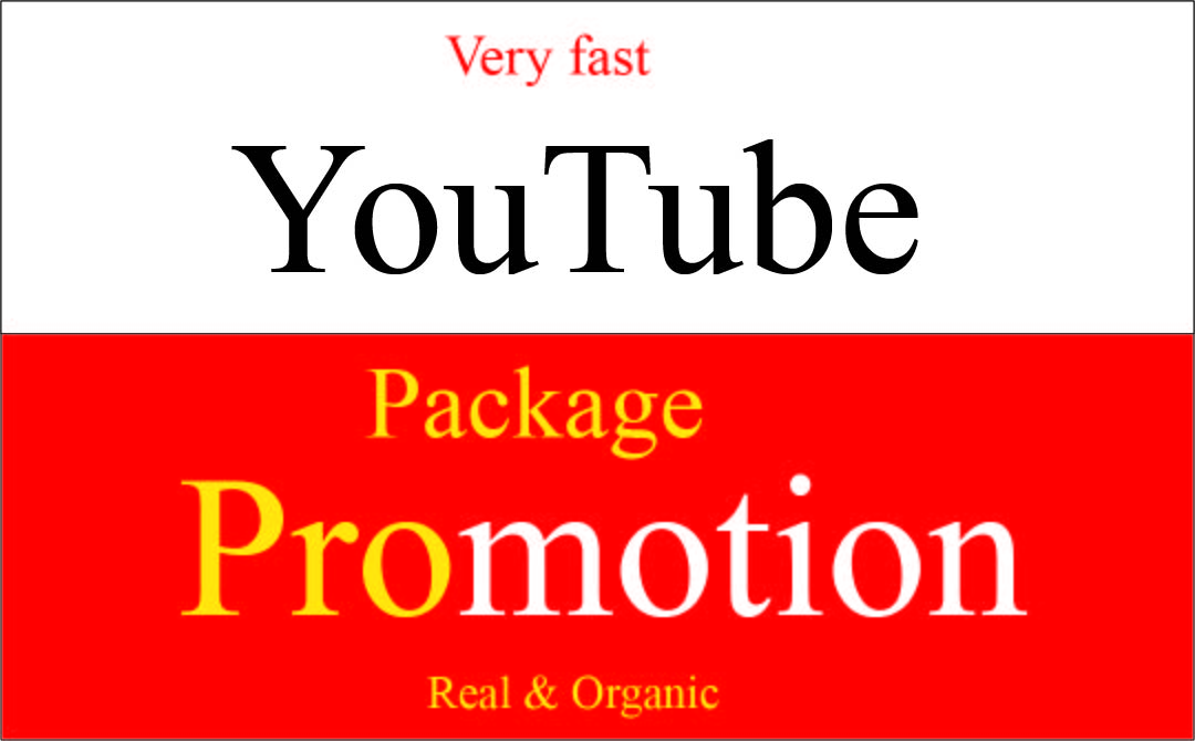 Very Fast perfect organic Youtube Package promotion