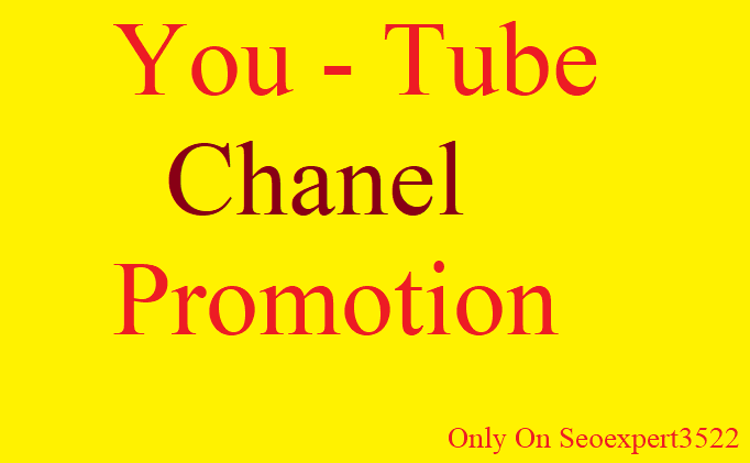 Instant Promotion Your YouTube Video by Real marketing