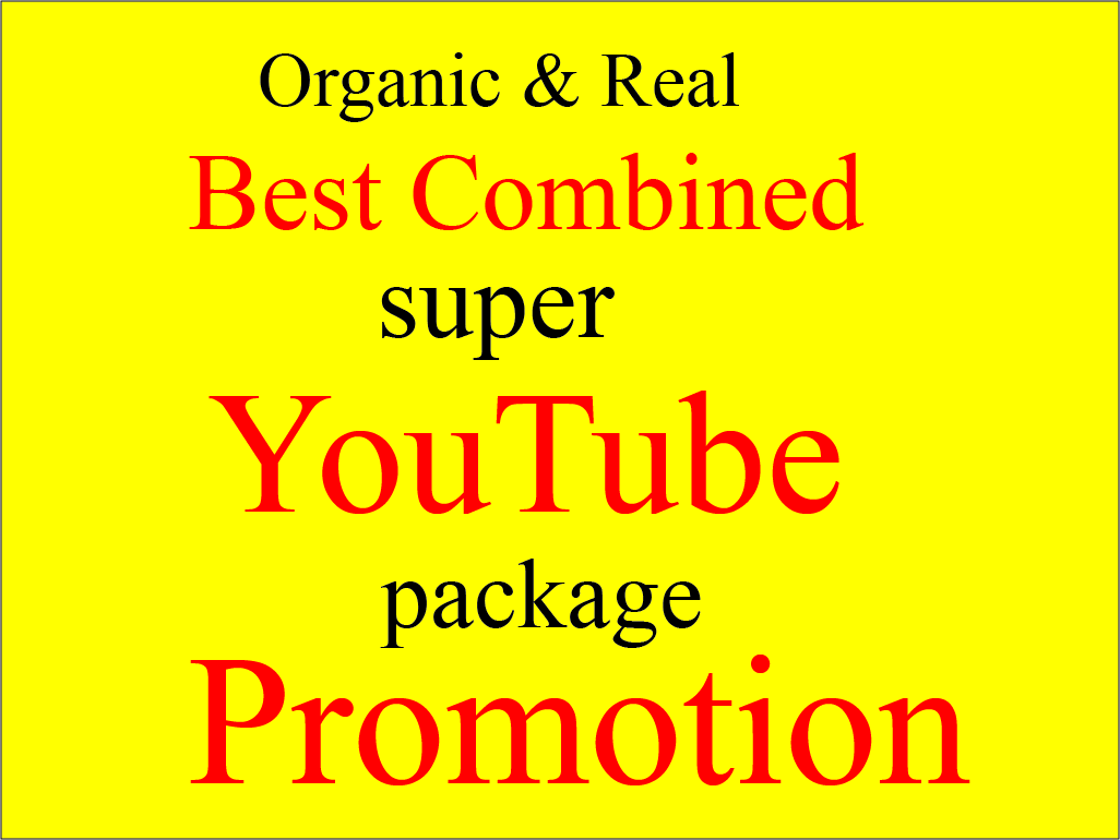 Best combined Instant YouTube Package Promotion