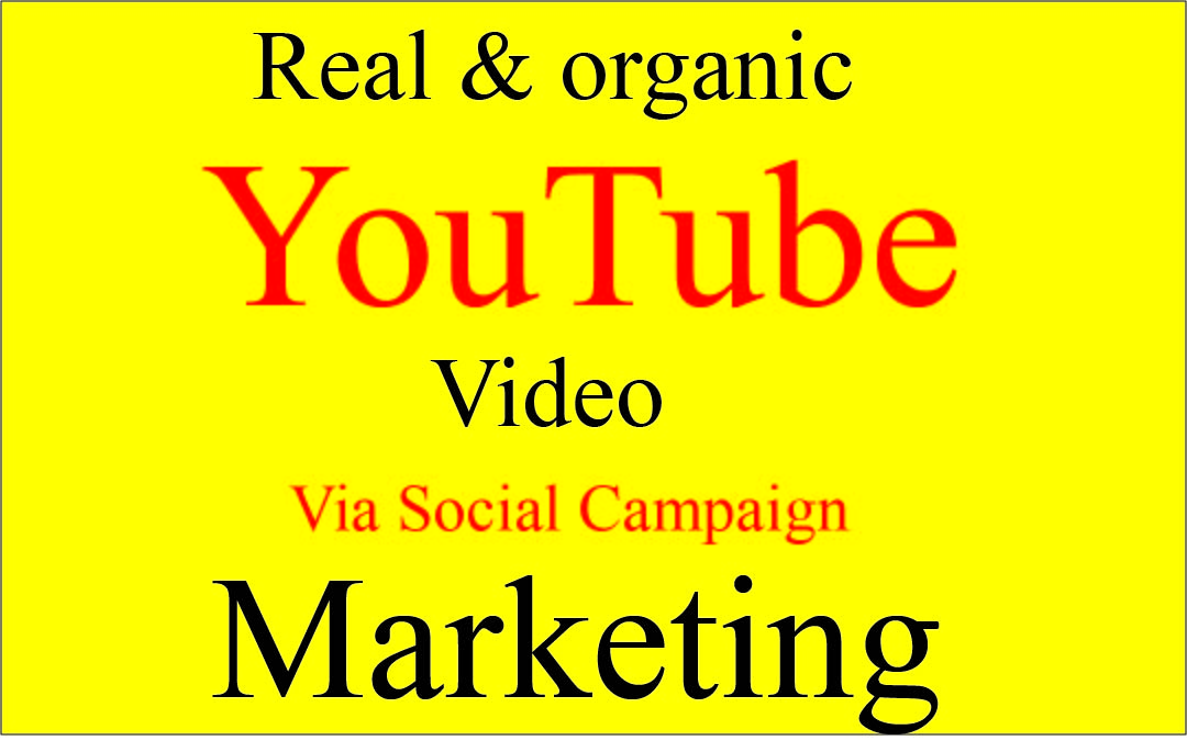 Get Super Fast Organic Promote YouTube videos via social Share