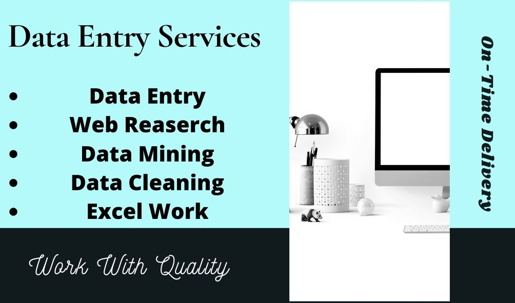 I Will Do Perfect Data Entry,  Data Mining and Web Research In Time Period