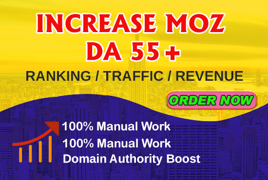 I will increase your site da 50+ with high authority backlinks