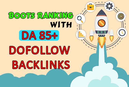 I will create da 85 dofollow backlinks via high da 301 redirect SEO links