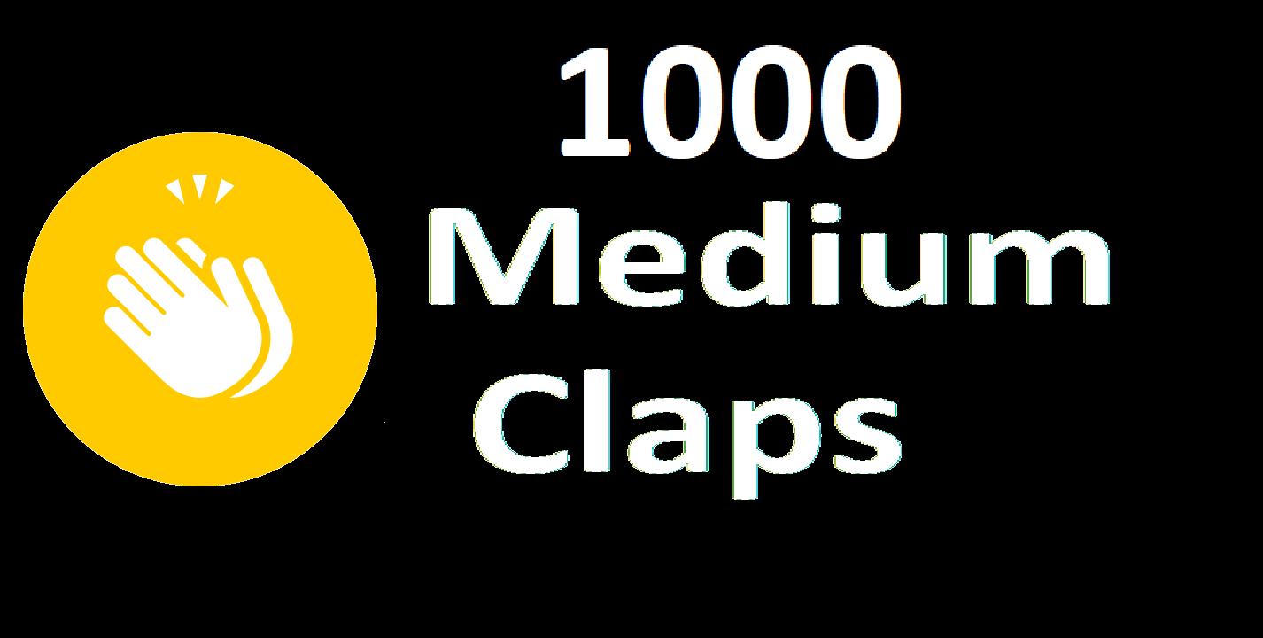 Provide 1000+ Medium Claps Percent Real And Permanents