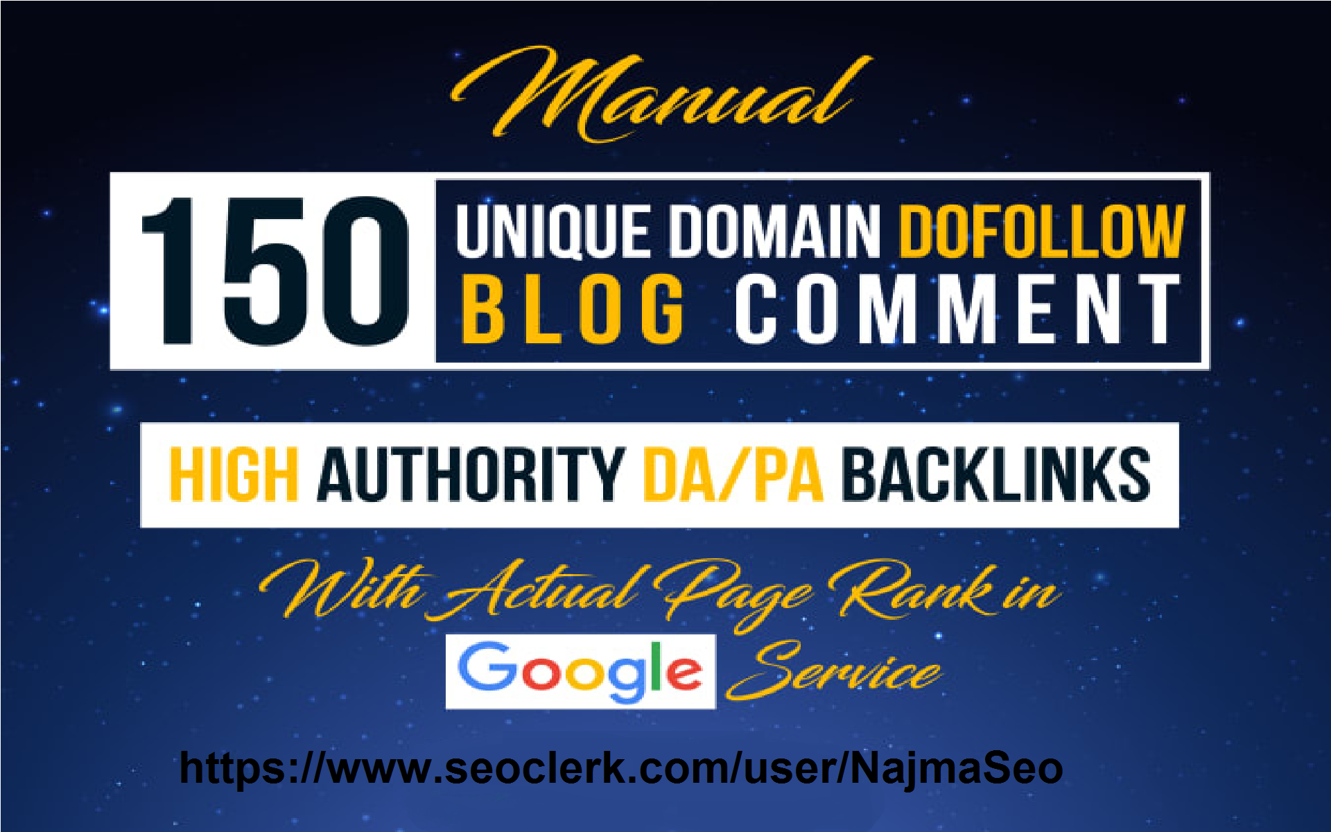 i will Create 150 unique dofollow blog comments on autual Page