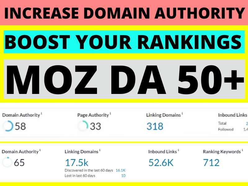 I will increase Moz domain authority of your site 50+,  Increase Moz DA