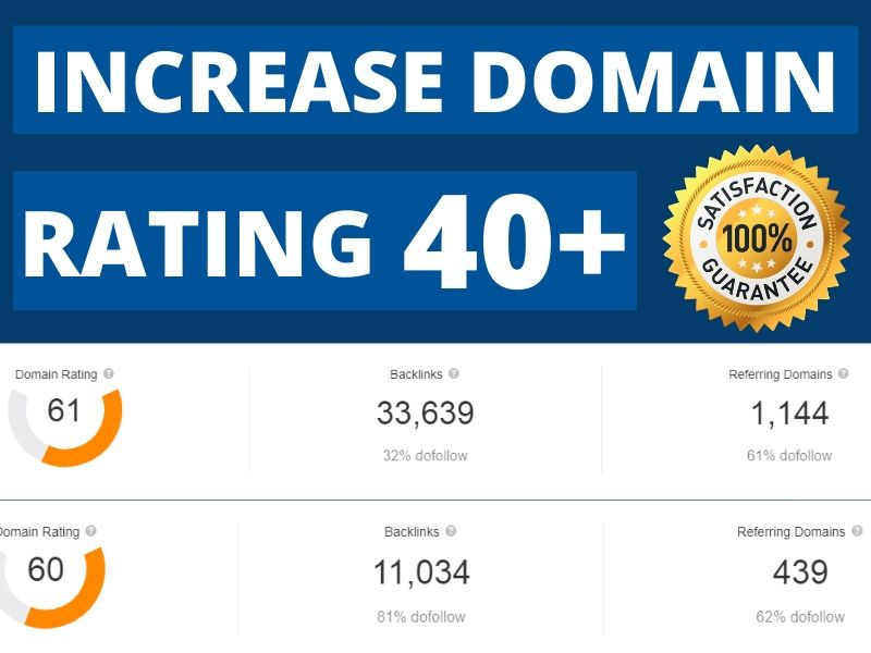Increase Ahrefs Domain Rating DR 40+ in 10 Days Guaranteed Results for You