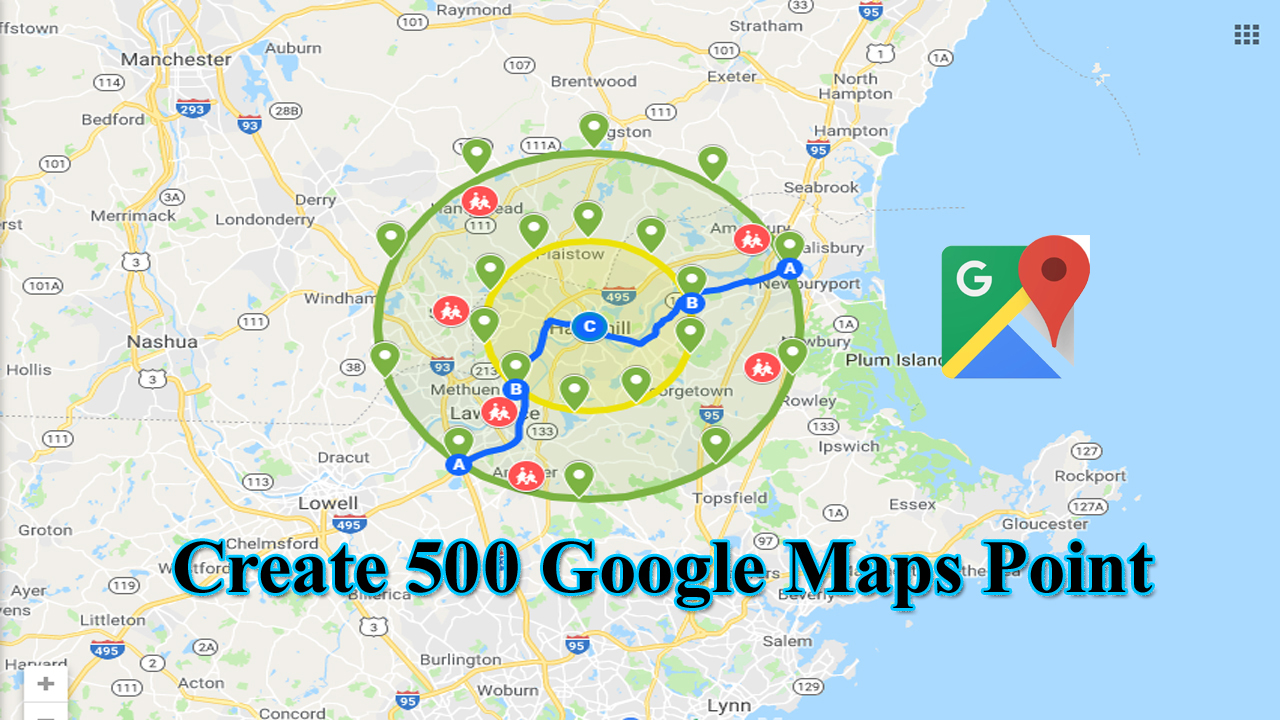 500 google map point with local SEO