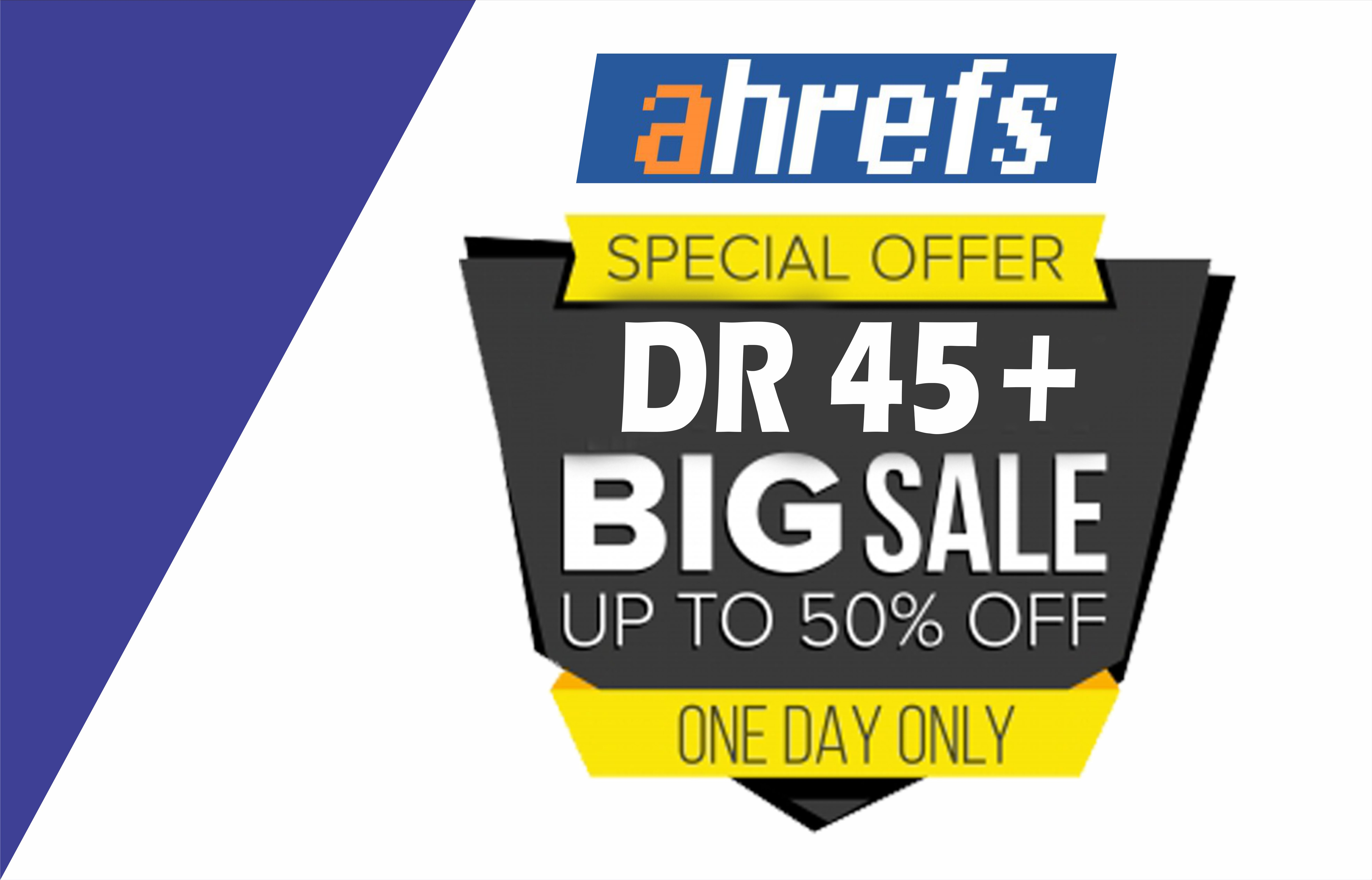 I will increase Aherfs domain rating DR 50+ Guaranteed in 10 days