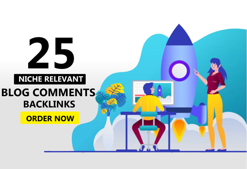 Create 25 Niche Relevant Blog comments backlinks