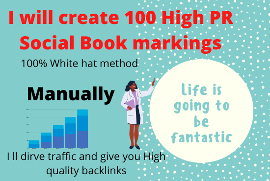 I will create 20 Social Bookmarkings all by manually