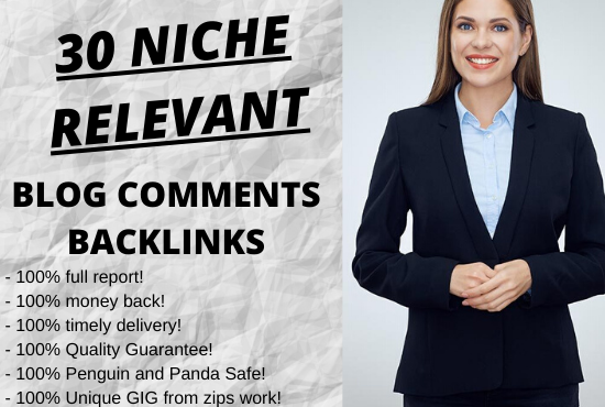 I will create 30 high authority Niche Relevant Blog Comments Backlinks