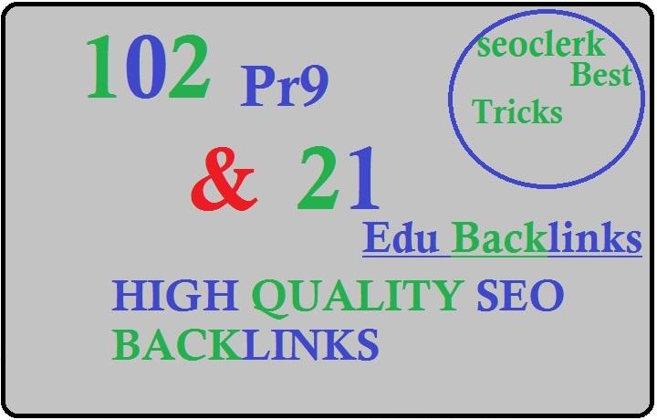 Create 123 powerful pr9 education profile seo backlinks