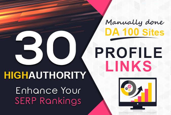 Rank Your Website On Google With 30 High DA/Pr9 Web Profile Backlink