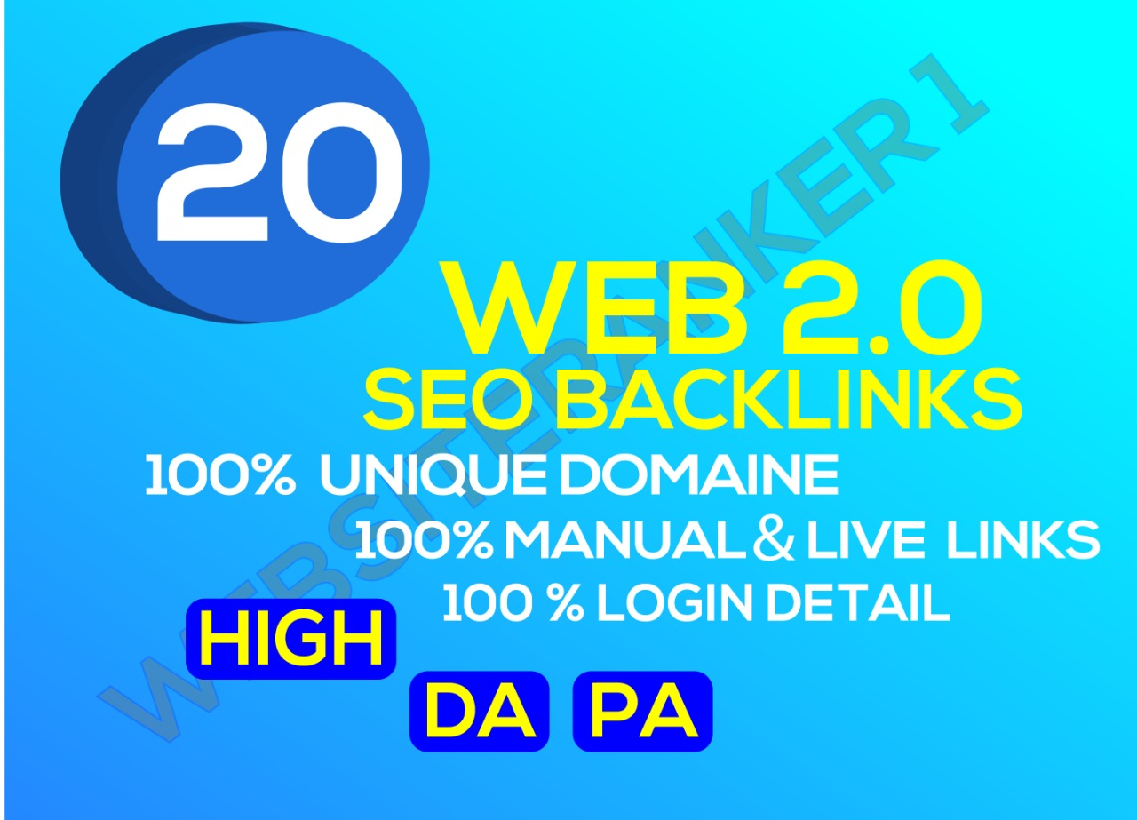 I will build 20 web 2.o Backlinks plus 50 blog comments