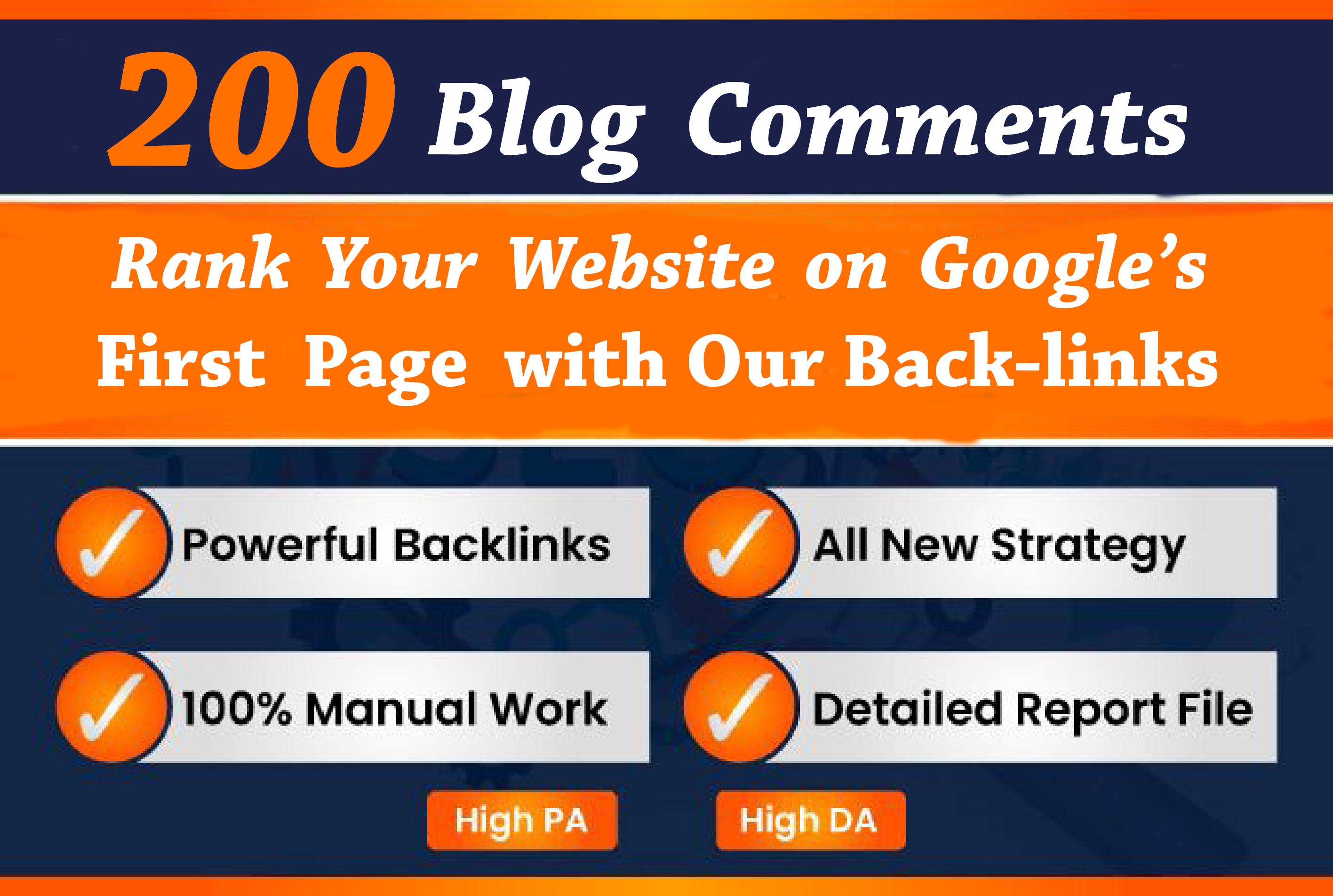 I will do 200 High Quality Dofollow Blog Comment Backlinks Off Page SEO