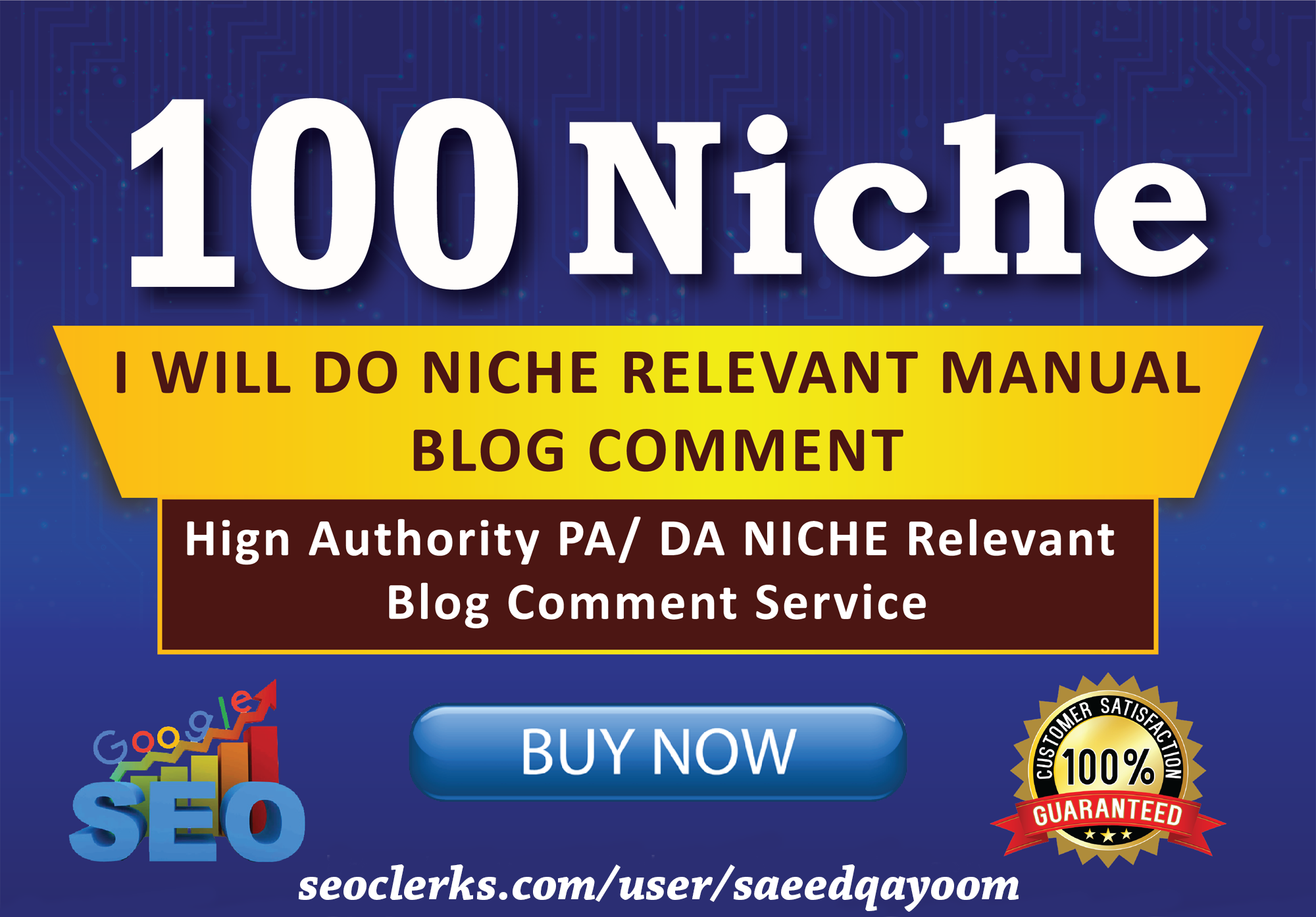 I will Promote website with 100 Niche Related Blog Comments Backlinks