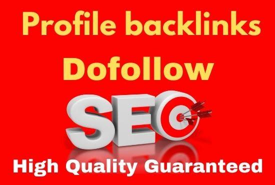 20 SEO Profile Backlinks on DA 70 to 80+