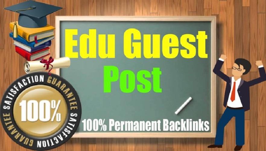 Create 20 EDU high authority Guest Posts permanent Dofoollow Backlinks