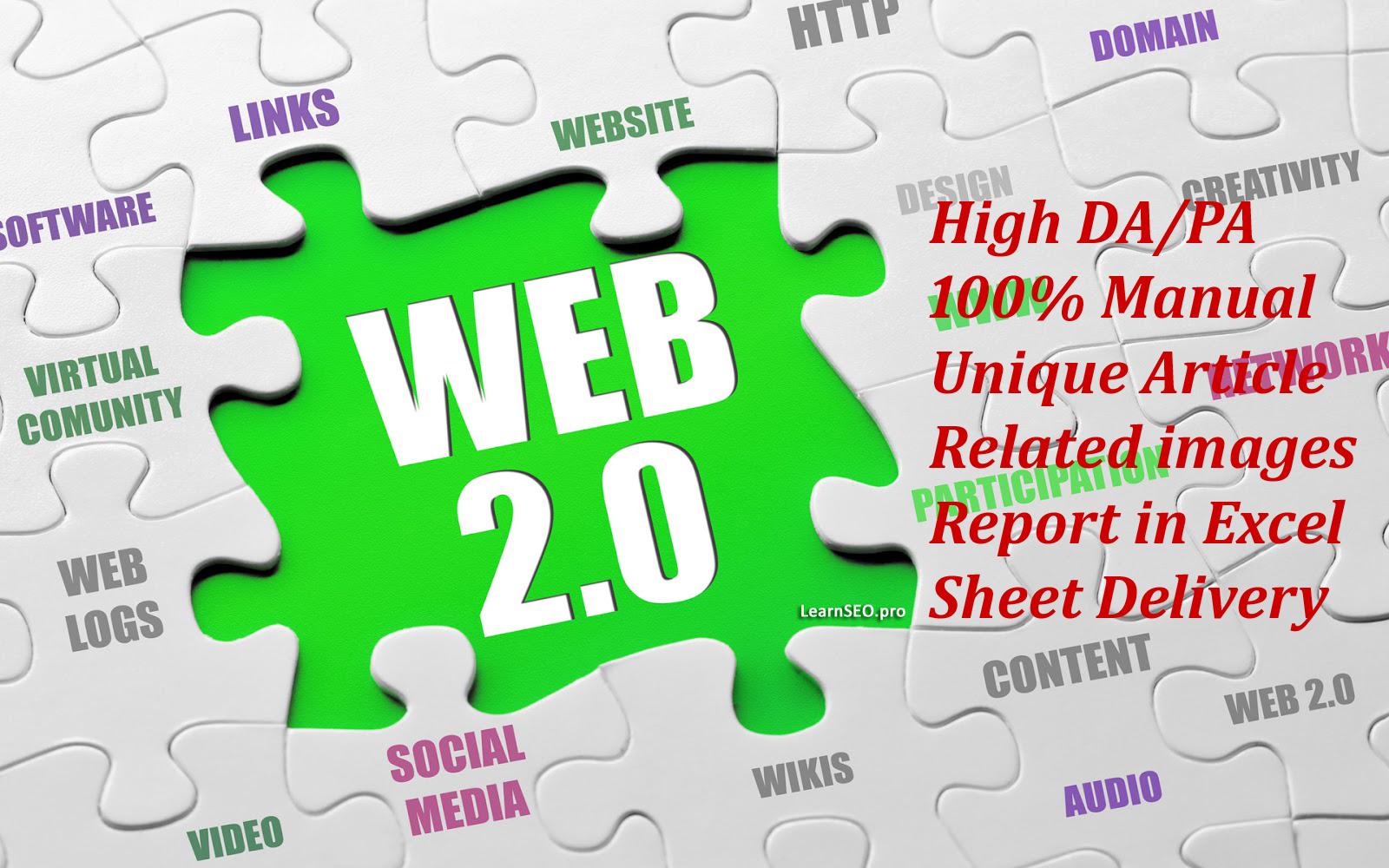 High Domain Authority 20 Web 2.0 back-links