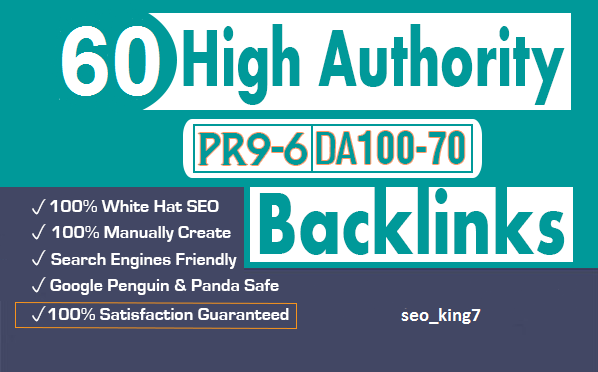 60 SEO backlinks white hat manual link building service for google top ranking
