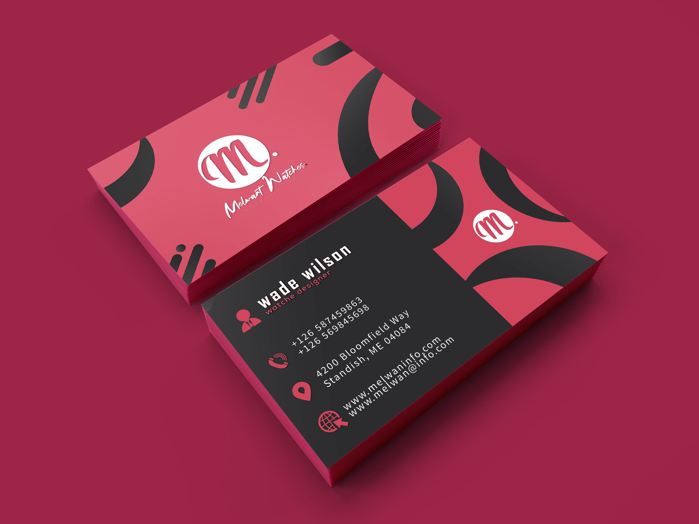 I will make a creative business card design