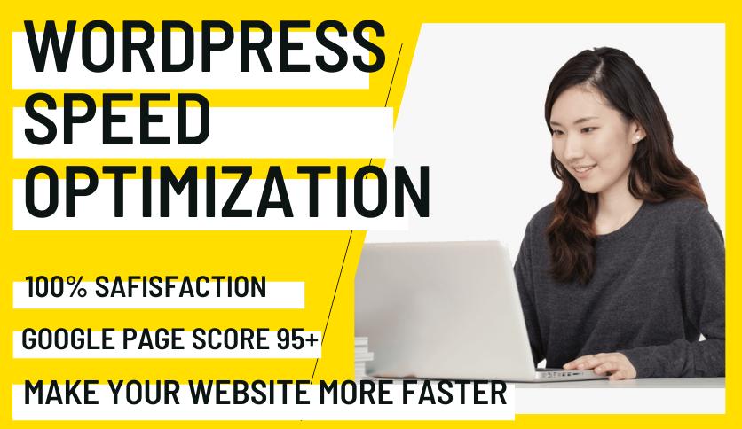I will Do WordPress Website Speed Optimization And Boost Website Speed