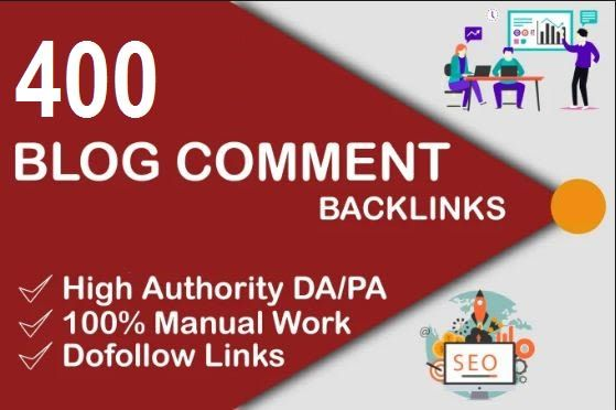 I will do 400 blogcomment with high backlinks