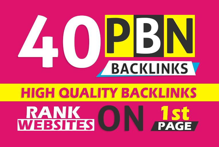 I will create 40homepage pbn backlinks