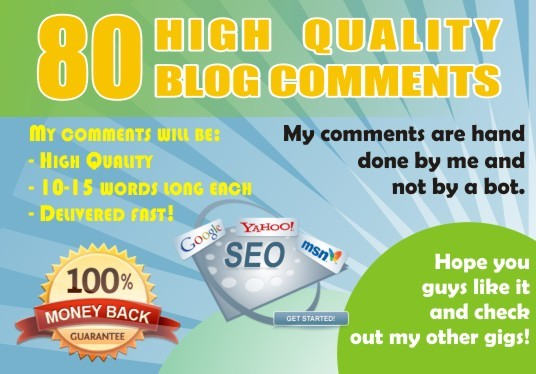 I will do 80 blogcomment with high backlinks