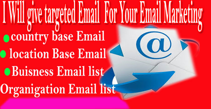 Get 3500 World wide targeted Email For online Marketing