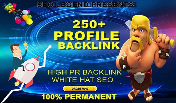 250+ Pr9 To Pr6 Manually Create High PR Authority profile Backlinks for SEO-Top Quality