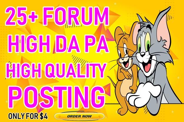 25+ High DA forum posting Backlinks-Top forum posting service in Monster Backlinks