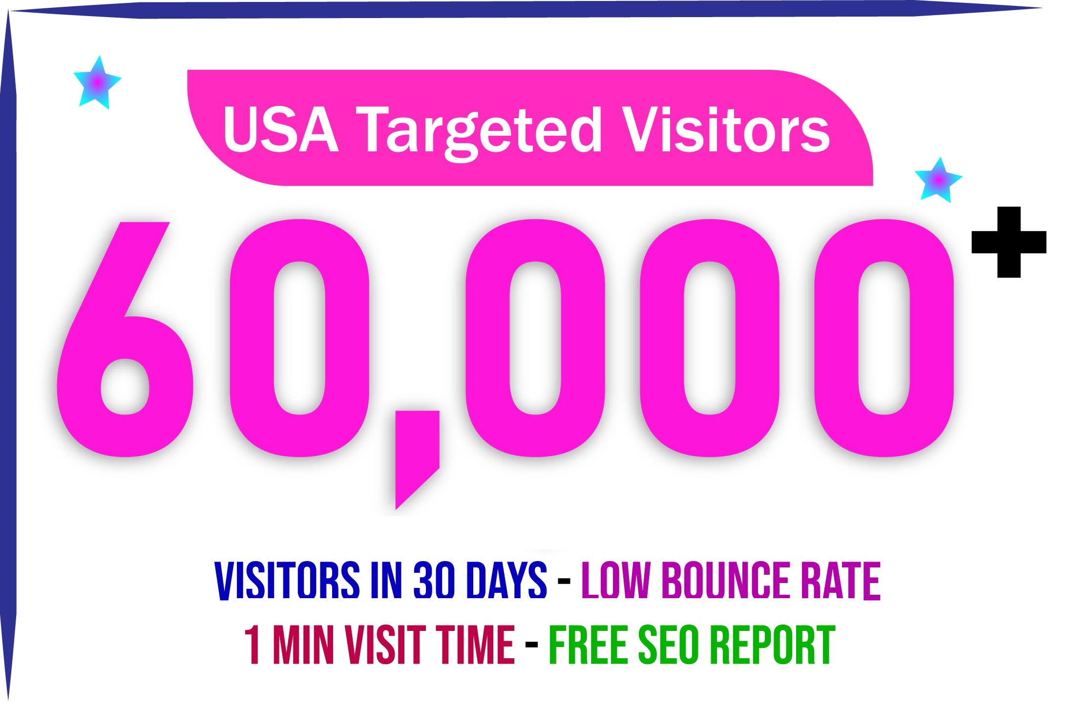 2000+ USA/CANADA daily visitors for 30 days nonstop