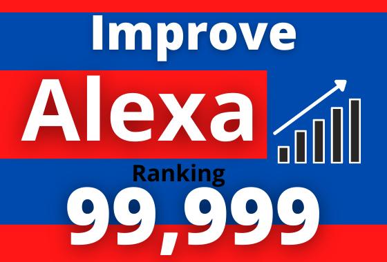 i will improve website global Alexa ranking under 999K