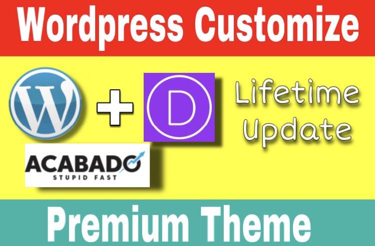 Wordpress Customization with Premium Theme and Free SSL certificarte