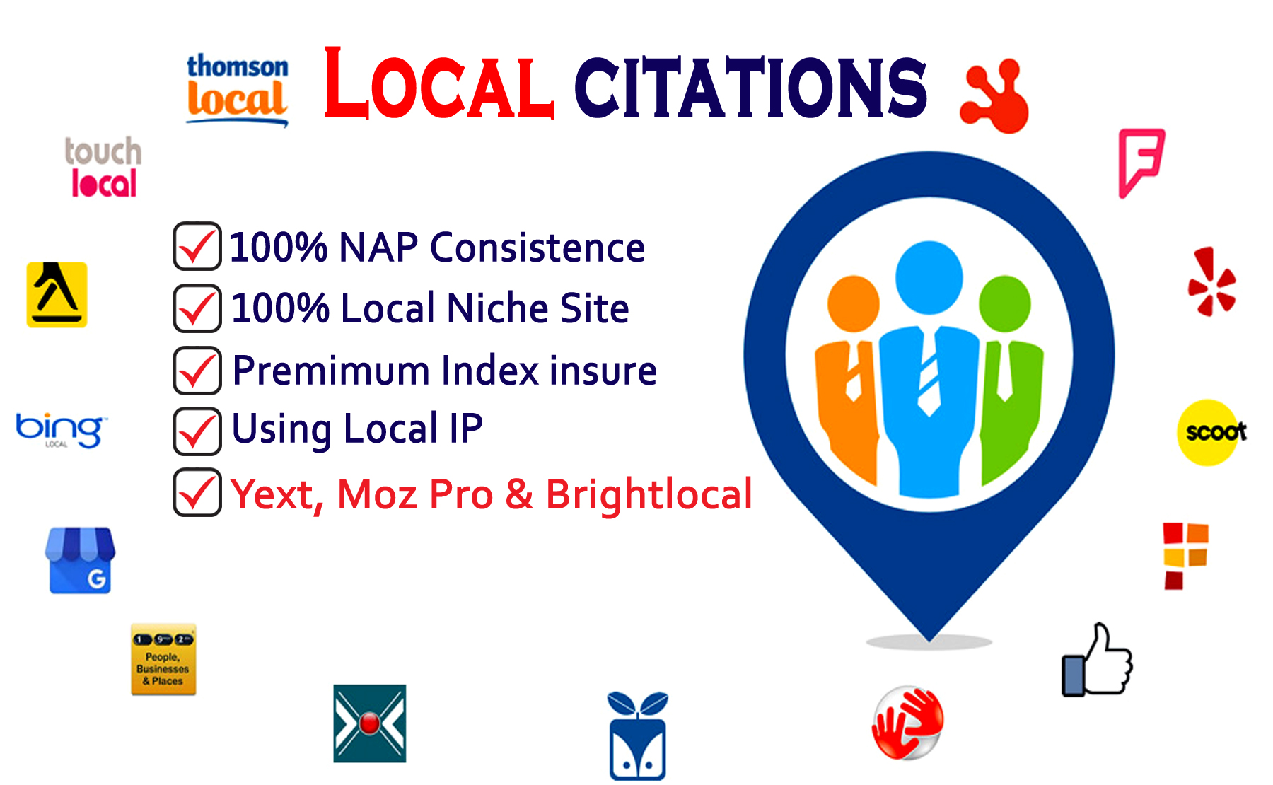 25 Local Citations or Top Business Listing For Local SEO